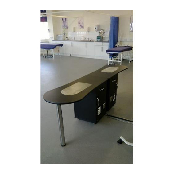 Nail Table with Built-In Extraction