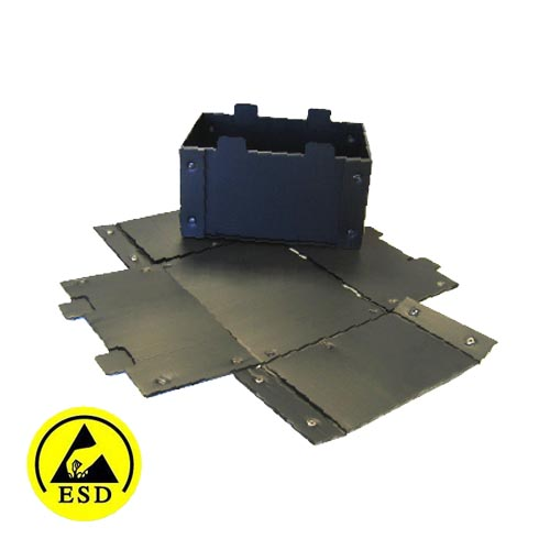 ESD Conductive Tote Boxes - Collapsible