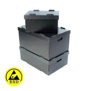 ESD Conductive Tote Boxes - Stack-able