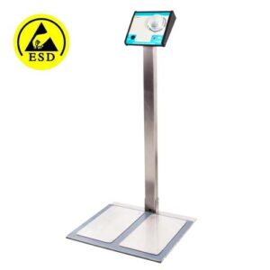 ESD Dual Footwear and Wrist Strap Tester Station