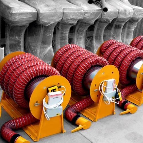Roller Exhaust Fume Extraction Reels
