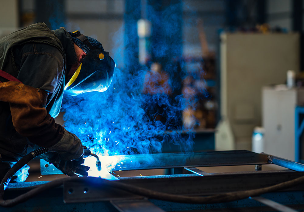welder creating fumes